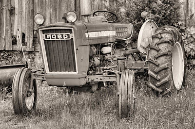 The Black And White Ford Art Print by JC Findley