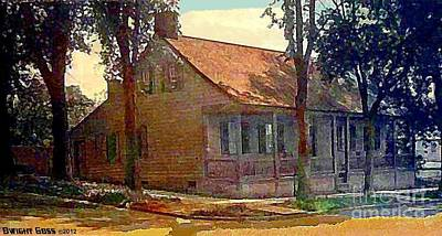 Painting - The Blackhorse Tavern In Johnstown N Y In 1910 by Dwight Goss