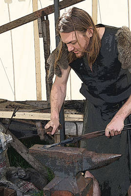 Photograph - The Blacksmith At Renaissance Faire by Margie Avellino