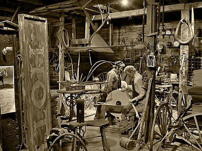 Photograph - The Blacksmith Shop Sepia by Ken Smith