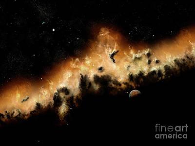 The Blast Wave Of A Nova Pulls Away Art Print by Brian Christensen