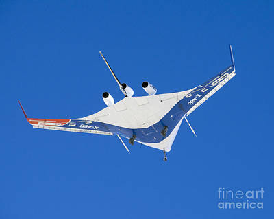 Blend Photograph - The Blended Wing Body X-48b Soars by Stocktrek Images