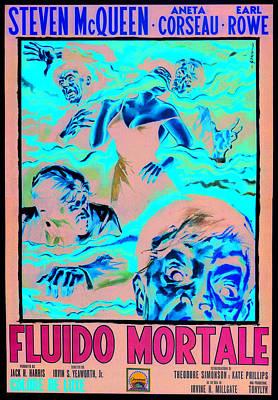1950s Movies Photograph - The Blob, Italian Poster Art, 1958 by Everett