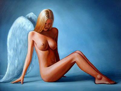 The Blue Angel 1 Art Print by Jim Papas