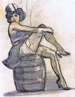 The Blue Angel Art Print by Mel Thompson
