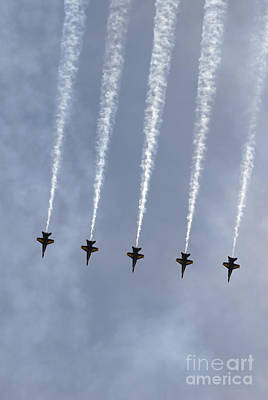 Photograph - The Blue Angels Perform Aerial by Stocktrek Images