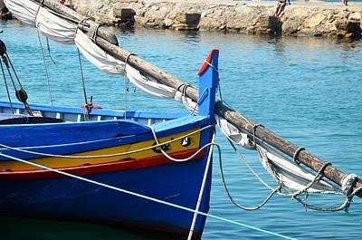 Photograph - The Blue Boat by Dany Lison