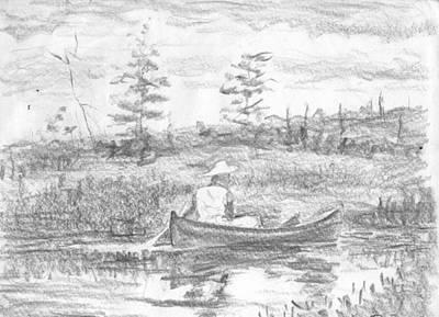 The Blue Canoe Art Print by Horacio Prada