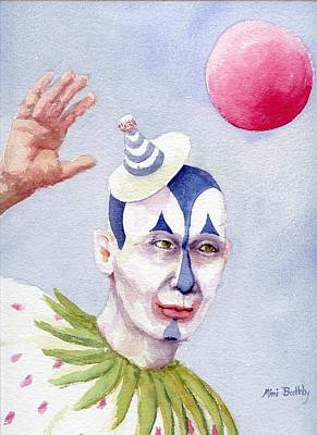 The Blue Clown Art Print by Mimi Boothby