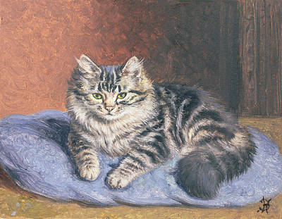 The Blue Cushion Art Print by Horatio Henry Couldery