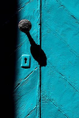 Photograph - Blue Door by Vintage Pix