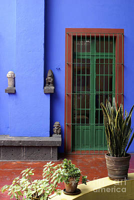 Photograph - The Blue House Mexico City by John  Mitchell