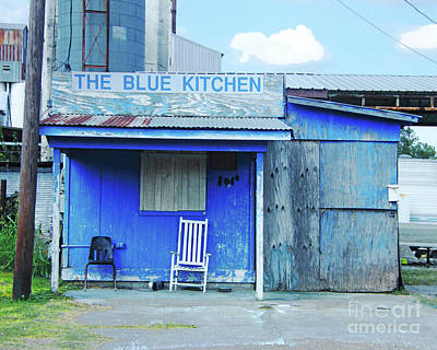 Digital Art - The Blue Kitchen by Lizi Beard-Ward