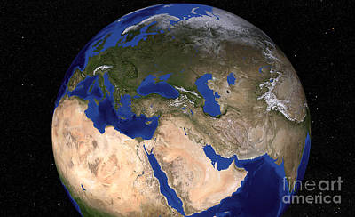 Landmass Photograph - The Blue Marble Next Generation Earth by Stocktrek Images
