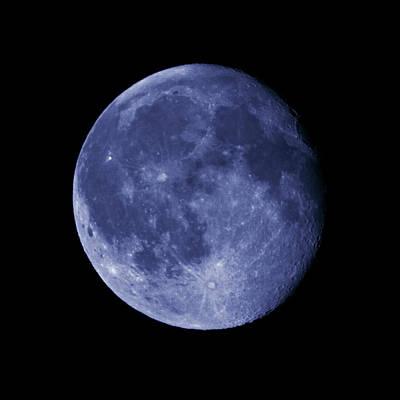 Jouko Lehto Royalty-Free and Rights-Managed Images - The Blue Moon by Jouko Lehto