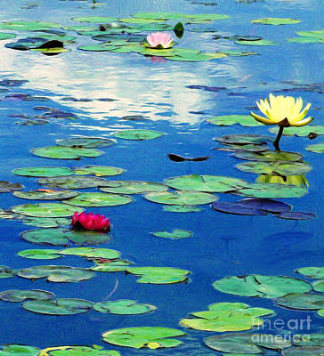 The Blue Pond  Art Print by J Jaiam