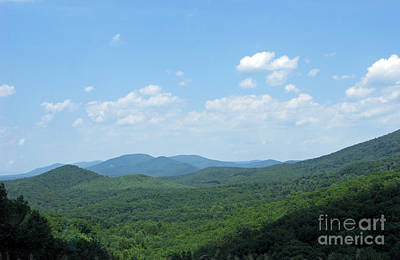 Virginia Postcards Photograph - The Blue Ridge Mountains In July N3 by Ausra Huntington nee Paulauskaite