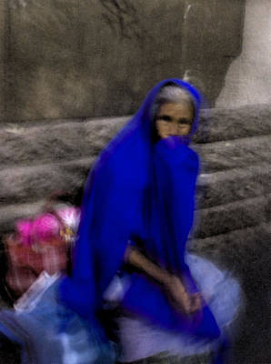 Art Print featuring the photograph The Blue Shawl by Lynn Palmer