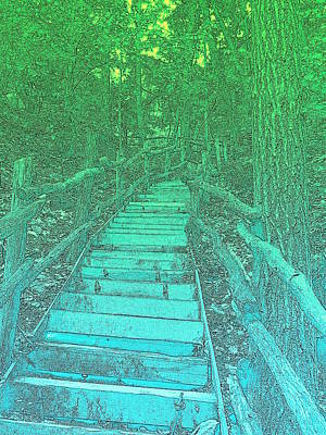 Photograph - The Blue Stairway by Richard Reeve