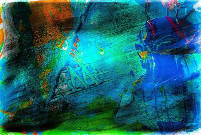Digital Art - The Blues by Carrie OBrien Sibley