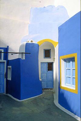 Photograph - The Blues-santorini by John Galbo