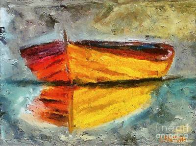 Boat Painting - The Boat by Dragica  Micki Fortuna