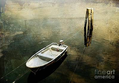 The Boat In Winter Art Print
