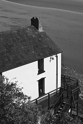 Mono Photograph - The Boathouse At Laugharne Mono by Steve Purnell