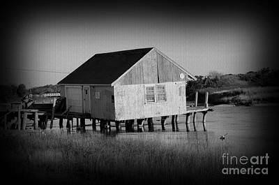 The Boathouse With Texture Art Print