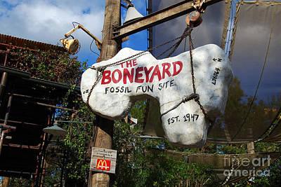 Photograph - The Boneyard Sign Animal Kingdom Walt Disney World Prints by Shawn O'Brien
