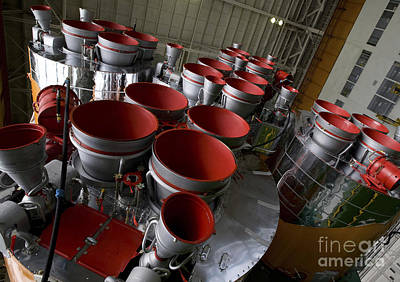 The Boosters Of The Soyuz Tma-14 Art Print by Stocktrek Images