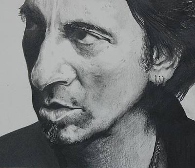 Bruce Springsteen Drawing - The Boss by Joan Pollak
