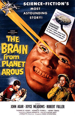 1957 Movies Photograph - The Brain From Planet Arous, Center by Everett