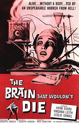 Horror Movies Photograph - The Brain That Wouldnt Die, Virginia by Everett