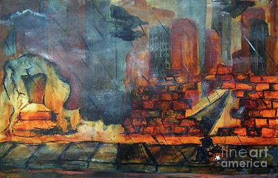 Iron Oxide Painting - The Break Through by Jami Jorgensen