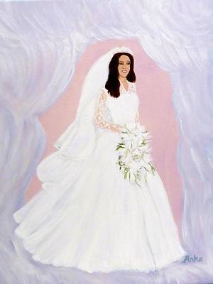 Femal Portrait Painting - The Bride by Anke Wheeler
