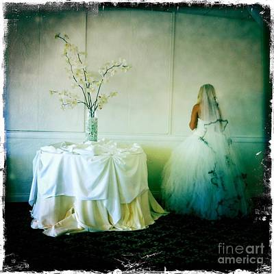 Art Print featuring the photograph The Bride Takes A Moment by Nina Prommer