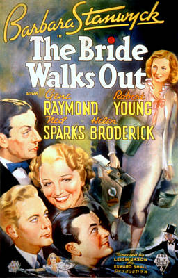 Postv Photograph - The Bride Walks Out, Ned Sparks, Helen by Everett
