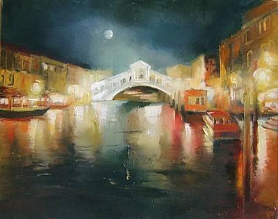 The Bridge Art Print by Nelya Shenklyarska