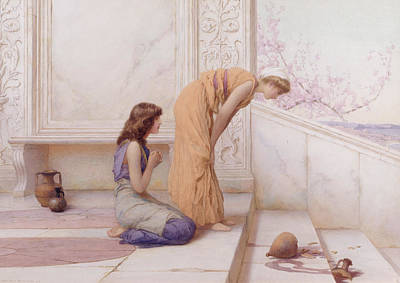 Amphorae Painting - The Broken Pot by Henry Ryland