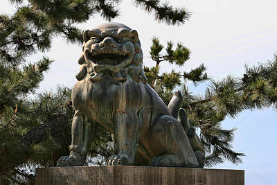 Photograph - The Bronze Lion by Andrei Fried