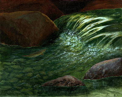 Painting - The Brookie by Jo Appleby