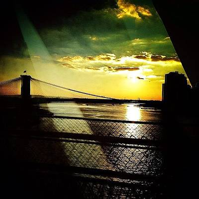Sunset Wall Art - Photograph - The Brooklyn Bridge At Dusk by Natasha Marco