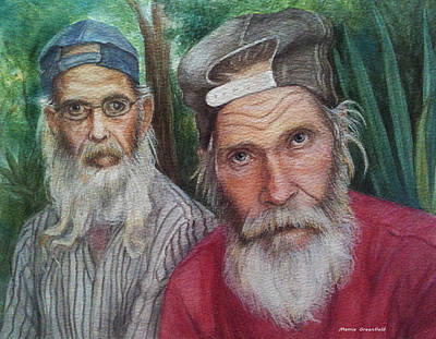 Drawing - The Brothers by Mamie Greenfield