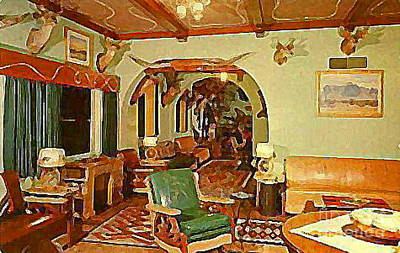 Painting - The Buckhorn Auto Court In Mesa Az In The 40's by Dwight Goss