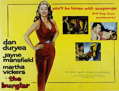 1957 Movies Photograph - The Burglar, Jayne Mansfield, Dan by Everett