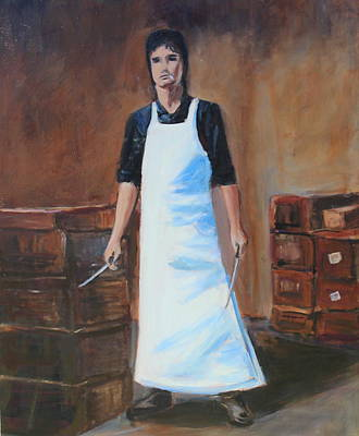 Painting - The Butcher by Rosemarie Hakim