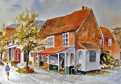 Painting - The Butcher Shop Lenham by Beatrice Cloake
