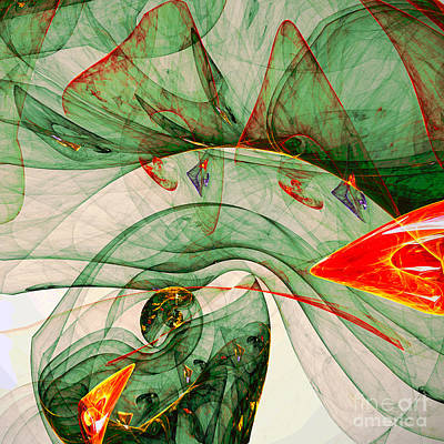 Abstract Design Digital Art - The Butterfly Effect by Klara Acel
