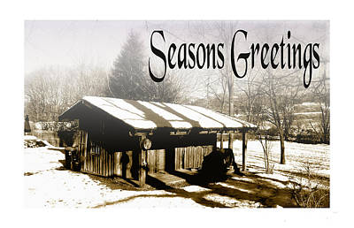 Photograph - The Cabin Seasons Greetings by Allan Rothman